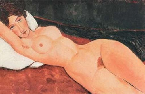 Reclining Nude X Poster Print by Amedeo Modigliani OELFROEBZRNKJVUH