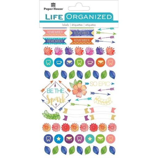 Paper House STPL-6E Life Organized Planner Stickers - Travel