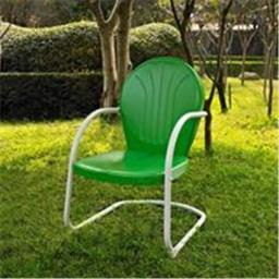 Crosley Furniture CO1001A-GR Griffith Metal Chair in Grasshopper Green Finish