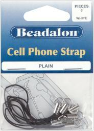 Cell Phone Straps 6/Pkg Black