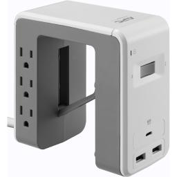 Apc by schneider electric pe6u21w apc surgearrest essential multi-use 6 outlet with 2 type-a 1 type-c port 4.8a us