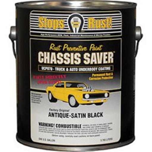 Magnet Paint & Shellac UCP970-01 1 gal Chassis Saver Paint, Stops & Prevents Rust - Satin Black