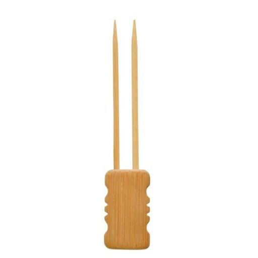 PacknWood 209BBMBOLA15 5.91 In. Mbola Double Prong Bamboo Skewer With Block End, Pack Of 480 KY9OSLXAPWRGXLYP