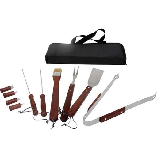 290-11BBQ KitchenWorthy 11 Piece BBQ Tool Set