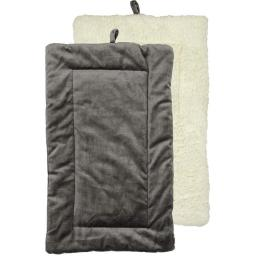 Urban Loft by Westex PCMCHRL 27 x 17 in. Non-Slip Sherpa Bottom Pet Crate Kennel Mat - Charcoal