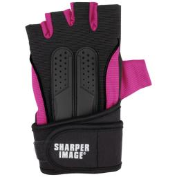 Sharper image(r) si-fg-380lxl-pnk fitness gloves with wrist support (l/xl; pink)