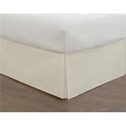 Todays Home TOH25014IVOR05 Basic Microfiber Tailored 14 in. Bedskirt, Ivory - California King