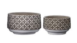 Urban Trends Collection UTC59800 Cement Round Pot Washed Concrete Finish - Set of 2