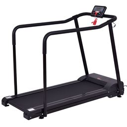 Goplus Electric Walking Jogging Treadmill with Extra-long Handles