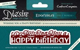 Crafters Companion Edgeables Only Words Wishing You A Happy Birthday