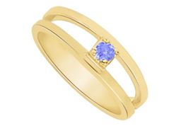 Lovely Tanzanite Mother Ring in 14K Yellow Gold